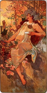 Alfons Mucha - 1896 - Autumn
