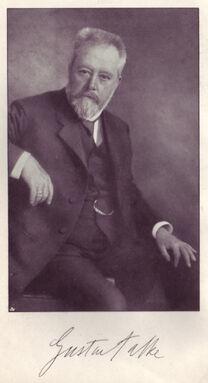Gustav Falke, portrait & signature 3