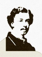 Juliusz Tarnowski † 20 VI 1863 – na podstawie fotografii w pracowni J. Stahl'a we Lwowie – rys. such. akr. na pap. 2014.