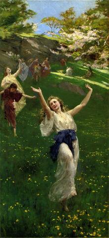 John Reinhard Weguelin – Spring (1890)