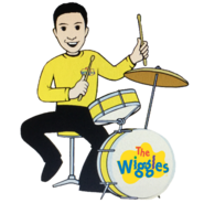 Cartoon Carlos Playing The Drums