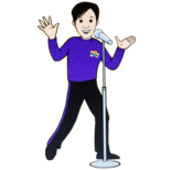 Cartoon Danny Singing With The Microphone