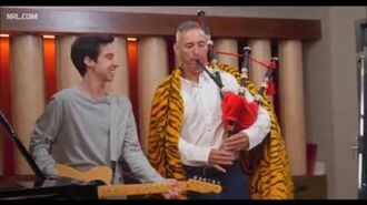 The Wiggles Anthony Field Making Of West Tigers Video