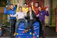 The Wiggles With Sprout Executives Sandy Wax And Andrew Beecham