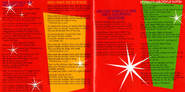 Yule Be Wiggling AU Booklet Lyric Page 1 and 2