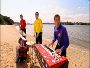 JeffPlayingRedStarryKeyboardinSplishSplash!BigRedBoat
