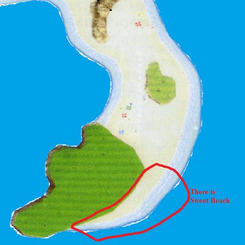 Sweet Beach on a map.