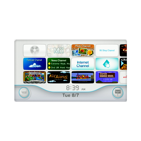 The Wii menu.