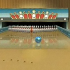 The inside of the Bowling Alley in the <a href=