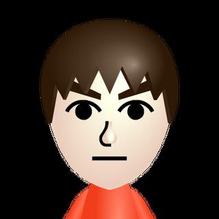 The default male Mii.