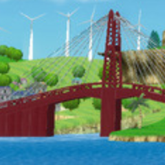 A panoramic view of the bridge.