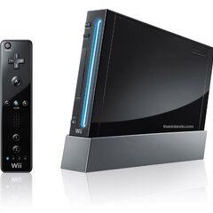 A black Wii.