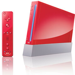 A red Wii.