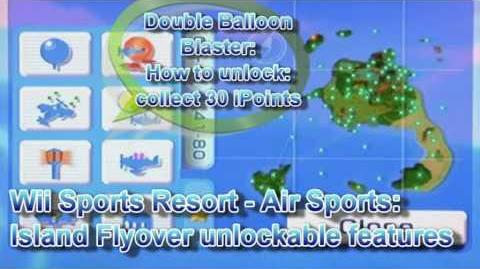 Wii Sports Resort - Air Sports Island Flyover unlockable features