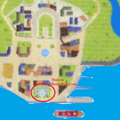 The Basketball Court on a map.