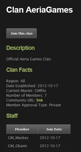Clan Aeria description