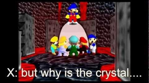 Super mario 64 bloopers Crystal funhouse