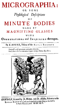 Micrographia title page