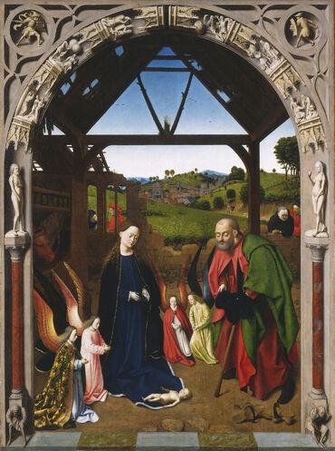 Petrus Christus Nativité Haute résolution
