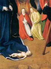 Petrus christus, natività di washington 05