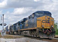 CSX 5217 ES44DC Locomotive Train Engine,CSX Railroad Locomotives Cordele Georgia
