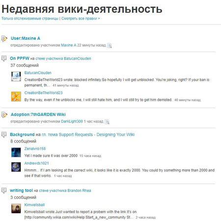 Страница Вики-деятельности