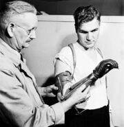 Royal Canadian Army Private using artificial hand