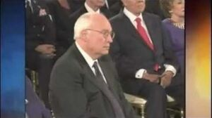 Did Cheney nod off during Bush's farewell address?