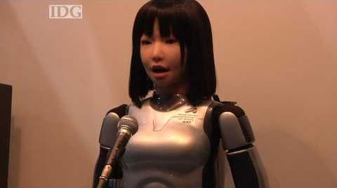 CEATEC The HRP-4C robot sings a song with Yamaha's Vocaloid