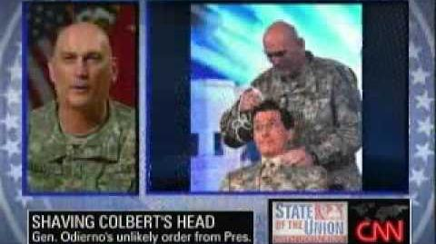 Gen. Odierno Stephen Colbert Needs Another Haircut