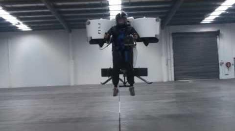 Martin Jetpack flight demonstration April 2009