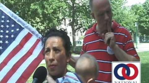 Mother and Children Bullied by Gay Marriage Protestors in Albany, New York on NOM Marriage Tour 2010