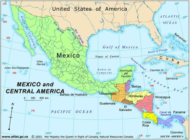 Mexico And Central America Map Image   Mexico central america map. | Wikiality | FANDOM  Mexico And Central America Map