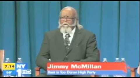 The Rent Is Too Damn High Party's Jimmy McMillan at the NY Governor Debate