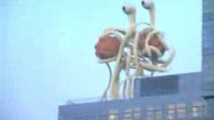 Flying Spaghetti Monster spotted in Germany