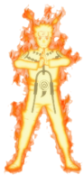 Naruto nine tails chakra mode by dattexx-d55wwmh