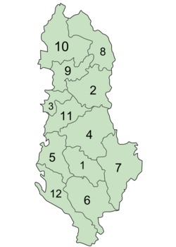 AlbaniaNumberedPrefectures