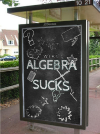 Algebra Sucks teaser poster at office