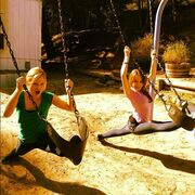 Lilly & Abby Swinging
