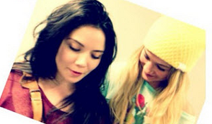 LWt bts with Julia and Abby