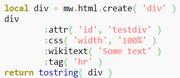 Lua div create example