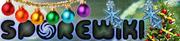 Старый новогодний логотип Spore Wiki