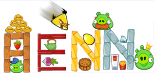 AENN из блоков Angry Birds