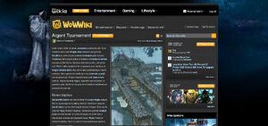 WoWWiki в первой версии Wikia