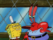 180px-Sad SpongeBob with Angry Mr. Krabs