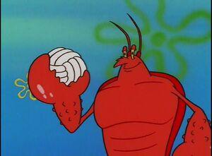 Personagem - Larry, a lagosta