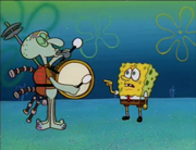 180px-Squidward Drumming with SpongeBob