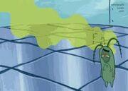 Plankton no balde de lixo