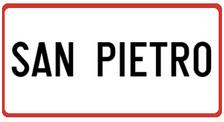 San Pietro Sign