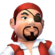 Pirata cabeça